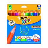 Set creioane colorate Evolution Bic, P24