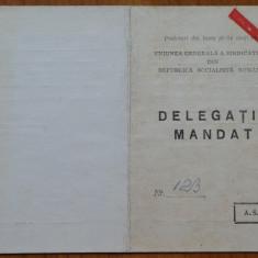 3 mandate de delegat ale lui Octavian si Mia Groza , anii 70