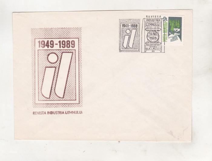 bnk fil Plic ocazional Revista Industria lemnului 1949-1989 Bucuresti