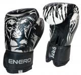 Manusi de Box Enero Tiger, 12 OZ, alb/negru