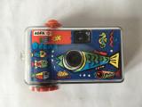 Aparat foto Agfa Lebox Ocean, cu film incorporat, plastic, 11x6x3cm