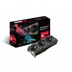 Placa Video Noua, ASUS ROG Strix Radeon RX 580 T8G Gaming Top OC Edition GDDR5 DP HDMI DVI VR Ready AMD