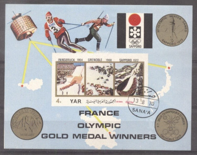 Yemen 1972 Sport, Olympics, imperf. sheet, used T.131 foto