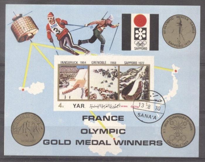 Yemen 1972 Sport, Olympics, imperf. sheet, used T.131