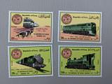 Irak - Timbre trenuri, locomotive, cai ferate, nestampilate MNH, Nestampilat