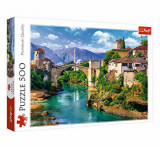 Puzzle Trefl Pod vechi Mostar Bosnia, 500 piese