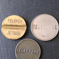 LOT DE 3 JETONE TELEFON