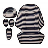 Salteluță cărucior Bebumi (navy/alb)
