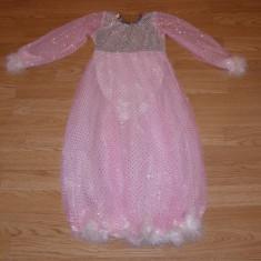 costum carnaval serbare rochie dans printesa pentru copii de 4-5-6 ani