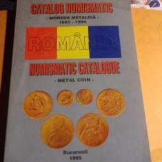 CATALOG  NUMISMATIC -MONEDA METALICA  -ROMANIA  1867-1994,BUCURESTI 1995,186 PAG