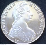 AUSTRIA THALER MARIA THEREZA SF ARGINT realizat Medalion cu Veriga si Lant, Europa
