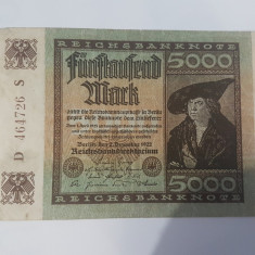 Bancnote Germania - 5000 marci 1922