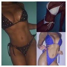 Costum de baie Mini Reglabil Swarovsky Sexy Sutien Bikini Tanga Lady Lust
