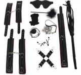 Set BDSM Harass Me Negru-Roz JGF Toys