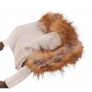 Mănușă de iarnă Bebumi (culoare alb)