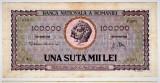 Bancnota 100.000 lei ( 100000 ) 25 ianuarie 1947 portret Decebal+Traian (1)