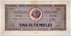Bancnota 100.000 lei ( 100000 ) 25 ianuarie 1947 portret Decebal+Traian (1) foto