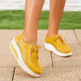 Pantofi dama Piele galbeni Lumesia