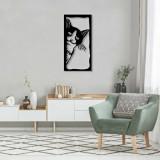 Cumpara ieftin Decoratiune pentru perete, Pirudem, metal 100 procente, 35 x 70 cm, 826PIR2067, Negru