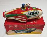 Jucarie veche din tabla cu frictiune Racheta - Rocket Racer - in cutia originala