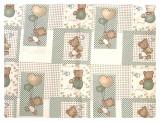 Paturica dubla de vara bebelusi DeLuxe 98x78 cm ursuleti pe bej, Deseda