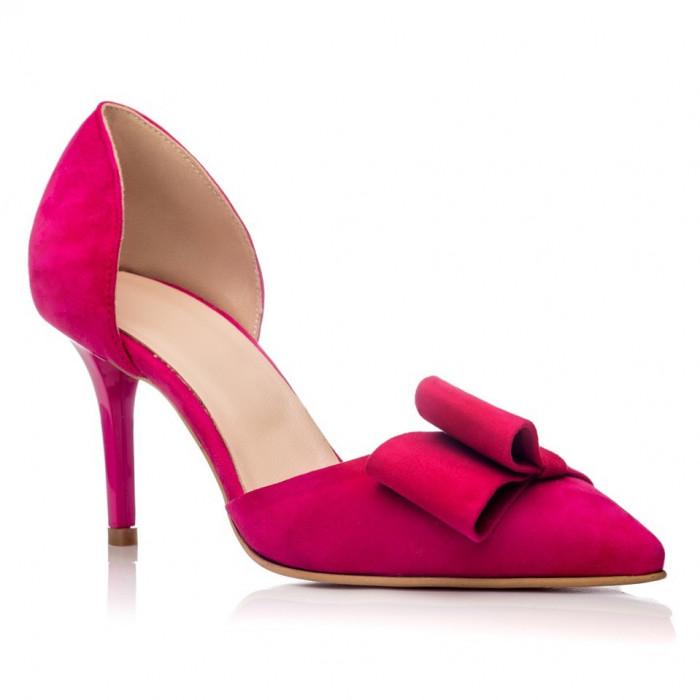 Pantofi piele naturala Fabiana Fuchsia - sau Orice Culoare