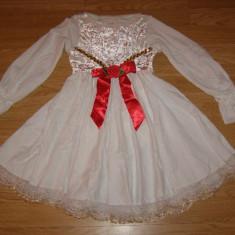 costum carnaval serbare rochie dans balet gala ingeras pentru copii de 7-8 ani