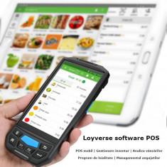 Android POS Loyverse touchscreen, functie cititor coduri bare 2D, slot SIM, foto 8MP