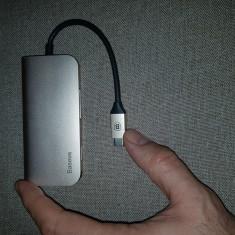 Adaptor Type C HUB for MacBook Pro 3 USB 3.0 Port / 4K HDMI / RJ45 / SD TF Card