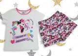 Pijama maneca scurta Minnie Mouse 3-8ani