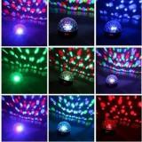Proiector glob disco cu LED-uri multicolore, 4.5V