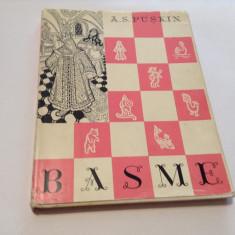 A. S. Puskin Basme, ed. cartonata, supracoperta, ilustr. Th. Kiriakof-Suruceanu