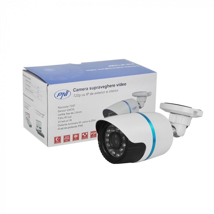 Resigilat : Camera supraveghere video PNI IP12MP 720p ONVIF cu IP de exterior si i