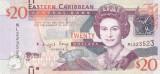 Bancnota Caraibe ( Eastern Caribbean ) 20 Dolari (2012) - P53a UNC