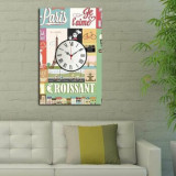Cumpara ieftin Tablou decorativ cu ceas Clockity, 248CTY1650, Multicolor