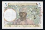 Africa Occidentala 5 Francs s9652 1942