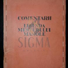 MIRCEA ELIADE - COMENTARII LA LEGENDA MESTERULUI MANOLE, 1943