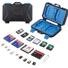 Cutie protectie , transport carduri , CF , SD MicroSd , sim