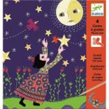 Joc creativ de răzuit Luna plină, 6-8 ani, Unisex