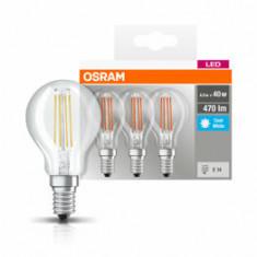Set 3 becuri Led Osram, E14, , 4W, 470 lumeni, lumina neutra 9733