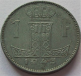Moneda istorica 1 FRANC - BELGIA, anul 1943 *cod 970, Europa, Zinc