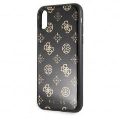 Husa de protectie, Guess Peony, iPhone XS, Negru