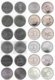 UNGARIA █ SET COMPLET COMEMORATIV DE MONEDE █ 50 Forint x12 buc █ 2004-2019 UNC