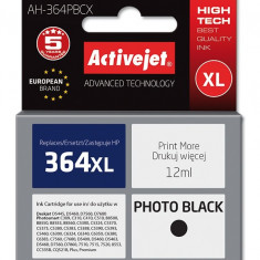 Cartus compatibil HP364 XL photo black pentru CB322EE, Premium Activejet, Garantie 5 ani