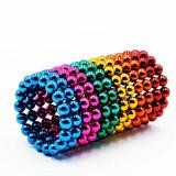Neocube 216 bile magnetice 5mm, joc puzzle , multicolor, 6 culori, peste 14 ani
