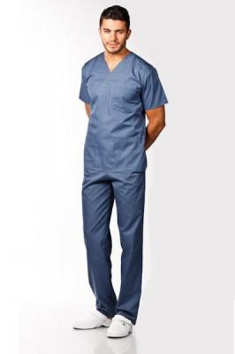 Costum medical gri petrol – unisex foto