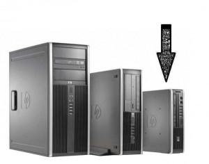 Calculator HP Elite 8000 Desktop USDT, Intel Core 2 Duo E8400 3.0 GHz, 4 GB DDR3, 320 GB HDD SATA, DVDRW, Windows 10 Pro, 6 luni Garantie