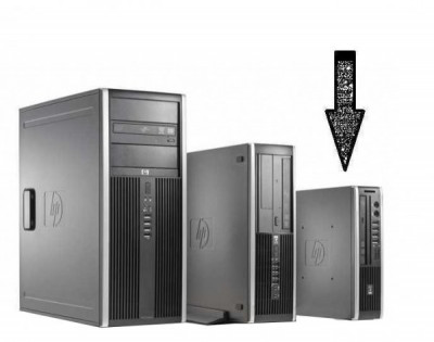 Calculator HP Compaq Elite 8000 Desktop USDT, Intel Core 2 Duo E8400 3.0 GHz, 4 GB DDR3, 250 GB HDD SATA, DVDRW foto