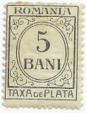 România, LP IV.10/1919, Taxă de plată, h. verzuie, fără filigran, eroare, MNH