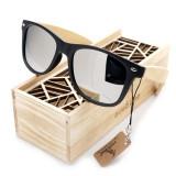 Ochelari de soare Bobo Bird CG004, lentila gri Wooden Lux